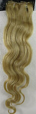 "Womens 22"" Remy Human Hair Clip Extensions 70g Body Wave Light Blonde #22"