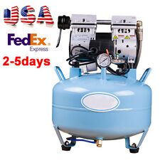 USA Noiseless Oil Free Oilless Air Compressor 30L 550W 130L/min for Dental Chair