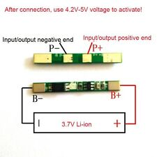 1S 3.7V 3A cell 18650 lithium li-ion BMS battery protection board Batterie
