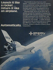 1/1974 PUB SPERRY FLIGHT SYSTEMS NASA SPACE SHUTTLE AUTOLAND ORIGINAL AD