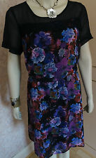 SO FABULOUS FLORAL PRINT & LACE DRESS SZE 18  RRP £49BNWT