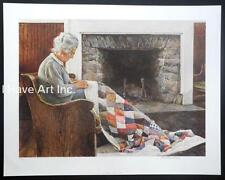 """David Armstrong-""""The Quilter""""-Ltd./Ed.-S/N-Collotype-Art-Prints-Folder Included"""