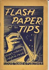 VINTAGE TANNEN'S FLASH PAPER TIPS ROBSON READ BOOKLET 1951 EDITION