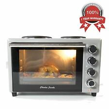 33 L Electric Mini Oven With Double Hob And Grill Caravan Hotplate