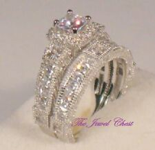 2.50 Ct Princess D/VVS1 Diamond Engagement Ring Antique Bridal set White gold