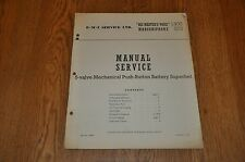 Marconiphone 872 His Masters Voice 1400  5 Valve Superhet Genuine Service Manual