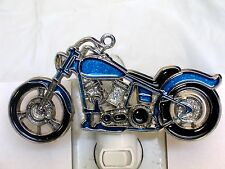 STAINED GLASS STYLE HARLEY DESIGN MOTORCYCLE #1 NIGHT LIGHT-GREAT GIFT FOR ALL!!