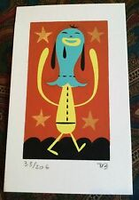 TIM BISKUP 'IPMG #1', 2005 SIGNED Mini Silkscreen Print Limited Edition #33/206