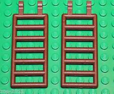 Lego 2x Reddish Brown 7x3 Bar with Double Clips (Ladder) (6020) NEW!!!