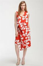 SZ 6 DIANE VON FURSTENBERG HALO BUDS LARGE RED NAIRA SHORT DRESS NWT