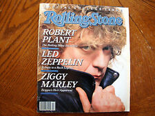 ROLLING STONE #522 MARCH 1988 LED ZEPPELIN ROBERT PLANT ZIGGY MARLEY VG++