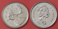 Brilliant Uncirculated 2002P Canada Jubilee 25 Cents From Mint's Roll