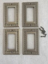 Jackson Deerfield  Rocker Light Switch Outlet Plate Cover Solid Brass set of 4
