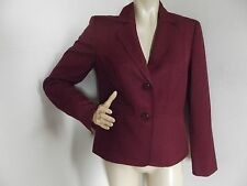 Womens JONES STUDIO SEPARATES 6 CRANBERRY RED JACKET/BLAZER polyester peplum