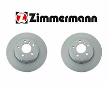 NEW BMW E70 X5 Rear Left and Right Brake Rotor By Zimmermann 34216793246