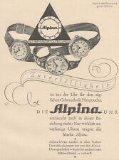 Y6534 ALPINA Uhren -  Pubblicità d'epoca - 1927 Old advertising