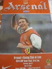 06/04/2000 UEFA Cup Semi-Final: Arsenal v Racing Club Lens  . (Any noticable fau