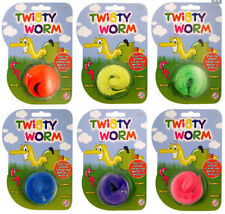 Magic TWISTY WORM Wiggly Trick Furry Fun Kids Party Bag Toy Xmas Stocking Filler