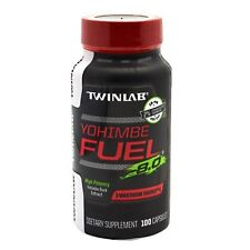 TwinLab YOHIMBE FUEL 8.0 Yohimbe Bark Extract Sexual Health Stamina 100 capsules