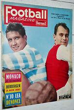 FOOTBALL MAGAZINE N°14 1961 AS MONACO GUIGUE ARBITRES N'JO LEA LYON OL BELGIQUE