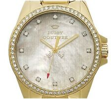 New Juicy Couture Watch Stella Pave Gold Plated Stainless Steel Bracelet 1901009
