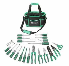 Commercial Electric 22-Piece Electrician's Tool Set with Case Heavy Duty Du
