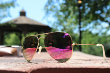 Ray Ban Aviator RB3025 112/4T Pink Lens Matte Frame Unisex 58mm Sunglasses