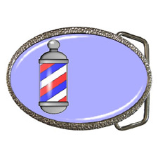 BARBER SHOP POLE CLASSIC RETRO BELT BUCKLE - GREAT GIFT ITEM