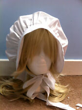 childs victorian edwardian  fancy dress white bonnet hat white book day bo peep