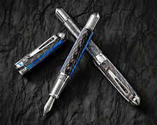 Grayson Tighe Blue Lume Limited Edition Fountain Pen - Glows In The Dark!