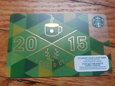 "Canada Series Starbucks ""CLASS OF 2015"" Gift Card - New No Value"