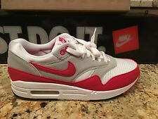 NIKE AIR MAX 1 SIZE 8  QS DS WHITE SPORT RED 378830 161 2009 DS OG 87 MESH