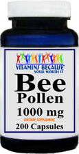 Bee Pollen 1000mg containing 200 capsules Natural Whole Herb