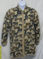 GEIGER 34 S M Horse Equestrian Theme BOILED WOOL Car Coat Jacket Austria 4 6