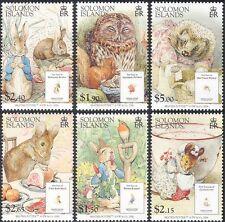 Solomons 2006 Beatrix Potter/Owl/Hedgehog/Rabbit/Books/People 6v set (n16939)