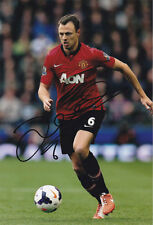 Jonny Evans, Manchester Utd, Northern Ireland, signed 12x8 photo. COA. Proof.