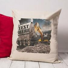 Personalised JCB Digger Dad Grandad Vintage Cushion Canvas Cover Gift NC521