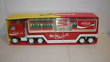 1981 BUDDY L MACK COCA COLA TRAILER TRUCK NO.5270 WITH COLA MACHINE AND BOTTLES