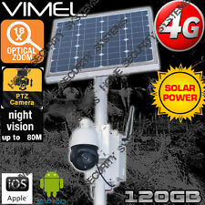 4G Solar Security Camera Home House Farm PTZ 18XOptical Zoom GSM Live View 3G