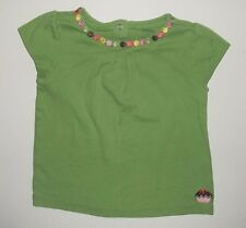 Gymboree Shirt 5T Toddler Girl Cap Sleeve Green Cupcake Spring Summer