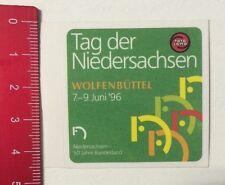 ADESIVI/Sticker: TOTO LOTTO giorno della Bassa Sassonia Wolfenbüttel'96 (20041653)