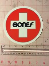 "Bones Swiss Bearings 6"" Large Round Sticker Skateboard Logo"