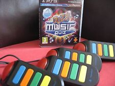 PS3 BUZZ The Ultimate Music Quiz + OFFICIAL BUZZERS Controllers Playstation