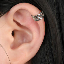 1 Pc Fashion Punk Unisex Silver Hollow Out U Pattern Cuff Wrap Ear Clip Earring