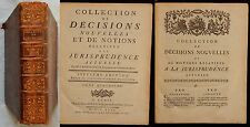 Z/ Collection de décisions...Jurisprudence (DENISART) Desaint 1771 (DROIT) T.4
