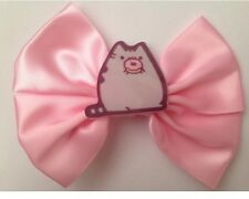 Pastel Pink Fairy Kei Pusheen Hair Bow Kawaii Cat Kitten Cute Kitty