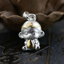 999 Sterling Silver 2016 LUCKY monkey pendant charm jewelry  DIY accessory  S267