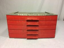 Vintage Ohmite Little Devils 5-Drawer Resistor Storage Case Display