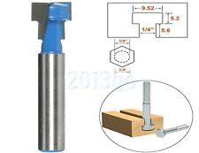 3/8''x1/4'' Shank T-Slot Cutter Router Bit For Wood Perforation Keyhole Hole YG