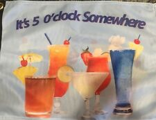 "It's 5 O'clock Somewhere 12 X 18"" Double Sided Boat Flag Jimmy Buffett Fans  NEW"